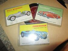 Topps World on Wheels #67 Delahaye #48 Packard  #26 Cooper-Bristol lot of 3