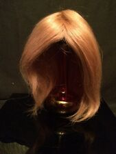 Vintage Excellent Doll Wig Made in Japan from Human Hair Honey Blonde