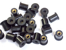 BULK 100 ea M5 Rubber Well Nuts Metric 5mm windscreen nut wellnuts wellnut