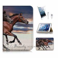 iPad Mini Gen 1 2 3 Flip Wallet Case Cover P2371 Horse