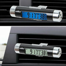Safe Clip-on Car LCD Thermometer Automotive Digital Backlight Clock Monitor mh