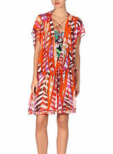 AUTH NEW STYLISH EMILIO PUCCI PRINTED SILK MINI KAFTAN, IT46 / UK14