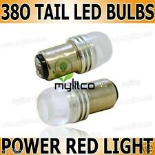 2 x P21 / 5 W 380 HIGH POWER Red Tail FRENO STOP LED Xenon Hid Lampadina 6000k