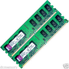 4GB(2x2GB) DDR2-667 PC2-5300 Non-ECC Unbuffered Desktop PC Memory (RAM) 240-pin