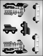 3-D TRAIN & RAILCARS CHOCOLATE CANDY MOLD Soap Crafts