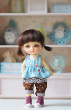 Outfit for Tiny Dolls FoxyBrowny Lati Yellow Pidgly dot set.