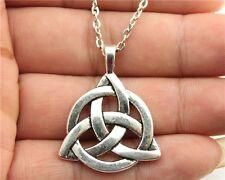6pcs silver Triquetra Symbol Pendant Size 35*27mm Zinc Alloy Chain necklace