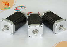 【Top Rated & EU Free】3PCS CNC NEMA34 Stepper Motor 1090OZ-IN,6A,100mm,4leads
