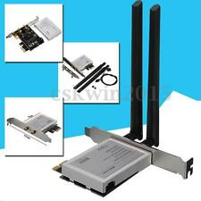 Half Mini PCI Express To PCI-e Adapter WiFi Bluetooth Card Converter ATX Antenna