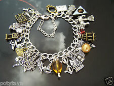 HANDMADE  WIZARD CHARM BRACELET - SUIT  HARRY POTTER FAN