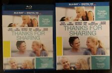 Thanks for Sharing (Blu-ray, 2014, NO Digital Copy) Mark Ruffalo, with SLIPCOVER