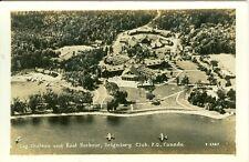 Montebello, QC Canada Log Chateau & Boat Harbor, Seigniory Club RPPC