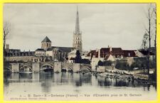 cpa 86 - St SAVIN sur GARTEMPE (Vienne) Vue prise de St GERMAIN Lavandières