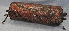 Neckroll Pillow made w/ Ralph Lauren Bedford Hunt Brown Paisley Fabric trim cord