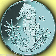 2014 Turquoise Seahorse 990 TITANIUM Coin in BOX with COA British Virgin Islands