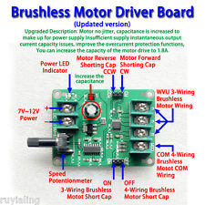 7V-12V DC Brushless Motor Driver Board Updated Controller for Hard drive motor