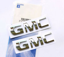 2x OEM Chrome GMC Nameplate EMBLEM badge for GM Chevrolet Yukon Sierra Terrain U