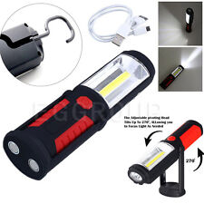 Rechargeable 800 Lumens LED Work Light Lamp Torch Spotlight w/ Data line 10W Red