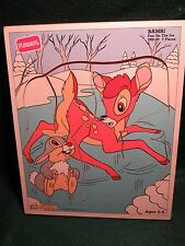 "Playskool 'Bambi"" Wood Puzzle 289-05  7 Pieces"