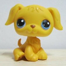 Hasbro Littlest Pet Shop Collection LPS Loose Toys Yellow Dog Puggy Blue Eyes