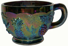 1970s Westmoreland Purple Amethyst Carnival Glass Three Fruits Pattern Punch Cup