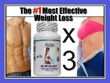 3X Acai Fat Burner Diet Pills Strong Weight Loss Slimming Tablets T5 Slim Blast