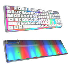 E-3lue K725 Backlit Professional LED Gaming Keyboard w/8-Colors Illuminated New