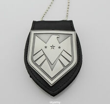 The Avengers Agents of  shield S.H.I.E.L.D. Badge and Leather holder