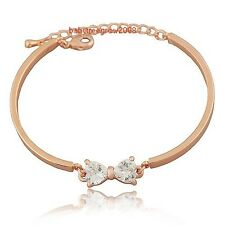 Crystal Bow 18K Rose Gold GP 18K rose Gold GP Fashion bracelet 532