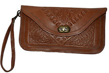 Leather Handbag Pouch Purse Moroccan Women Shopping Bag Make up Clutch Wallet