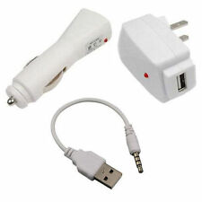 NEW USB Charging Cable+Car+Wall Adapter Charger for iPod Shuffle 1st 2nd 1 2 Gen