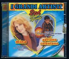 I GRANDI ARTISTI MINA / ADRIANO CELENTANO - 2 CD FUORI CATALOGO  SIGILLATO!!!