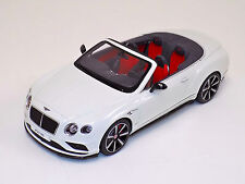 1/18 GT Spirit Bentley Continental GT V8 S Cabriolet in White Limited 504 ZM046