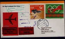 """Erstflug LH """"Quito - New York"""" 12.04.1973 !! irrtümlich falscher Stempel"""