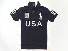 New Ralph Lauren Polo Custom Fit Big Pony Navy 100% Cotton USA Shirt size S