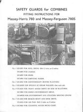 MASSEY HARRIS 780 & MF 780S SAFETY GUARDS FOR COMBINES BROCHURE - DG5