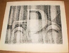 Old Ford Coupe in Weeds Ink Drawing-1960s-William Gorman- Listed N.J.