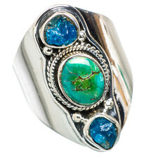 Tibetan Turquoise, Apatite 925 Sterling Silver Ring Size 9 Jewelry R829636F