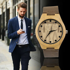 Vintage watches wooden dial watch Rhombus Pattern Men Women Couple Watch LE