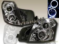 2003-2007 CADILLAC CTS PROJECTOR HEADLIGHTS TWIN CCFL HALO CLEAR CHROME HOUSING