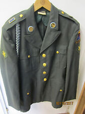 WW2 Vintage US ARMY Coat US Military Uniform 37R w/Patches & Pins