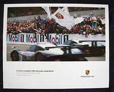 PORSCHE OFFICIAL 993 911 GT1 LE MANS FRIENDS RACECAR SHOWROOM POSTER 1998