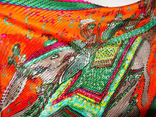 AUTH HERMES  `Beloved India` Pleated Scarf