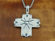 Cross with Designs CDI Sterling Silver 925 Pendant Chain Necklace