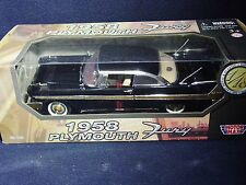 1958 Plymouth Fury - 1:18 Scale Die-cast Car - by Motor Max- New In Box