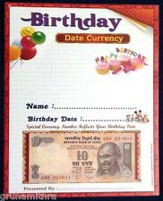 10 RUPEES BIRTHDAY NOTE  (DATE IN SERIAL NUMBER) 1 UNC ORIGINAL NOTE