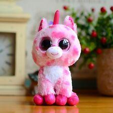 """6"""" Ty Beanie Boos Dolls Unicorn Solid Glitter Eyes Toy Plush Stuffed Animals"""