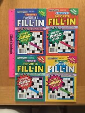 PENNY'S FAVORITE FILL-IN PUZZLE BOOKS x 4 Retail $15.96 w FREE SHIPPING