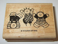 Kids Jumping Rubber Stamp Stampin' Up! Headstand Children Retired Wood Mounted