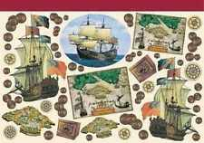 Decoupage Paper Sailing Ships Boats Sea Maps Charts Design Scrapbook Hobby